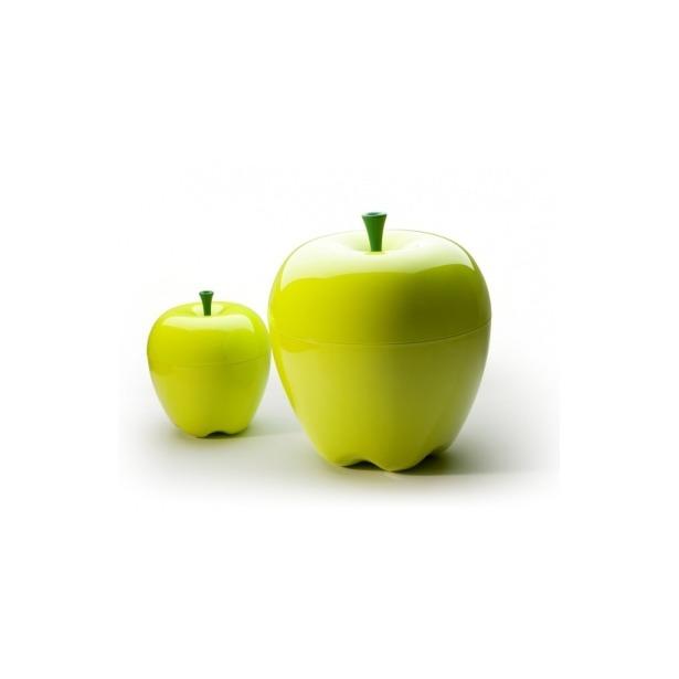 фото Контейнер Qualy Happle. Цвет: зеленый. Габариты: 300x300x300