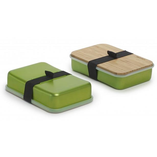 фото Бутербродница Black+Blum Sandwich Box. Цвет: зеленый
