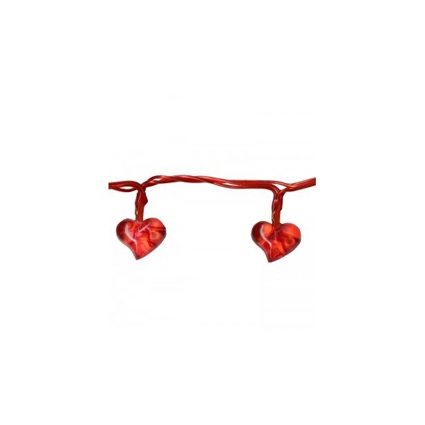 фото Гирлянда на батарейках Star Trading Heart. Цвет: красный