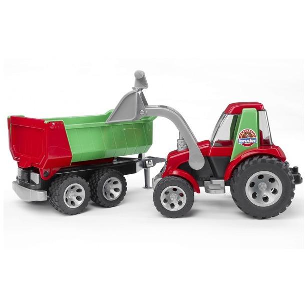 фото Трактор с ковшом и прицепом Bruder Roadmax 20-116