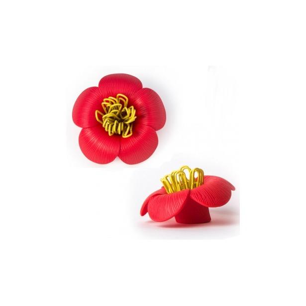 фото Магнит для скрепок Qualy Blossom. Цвет: красный