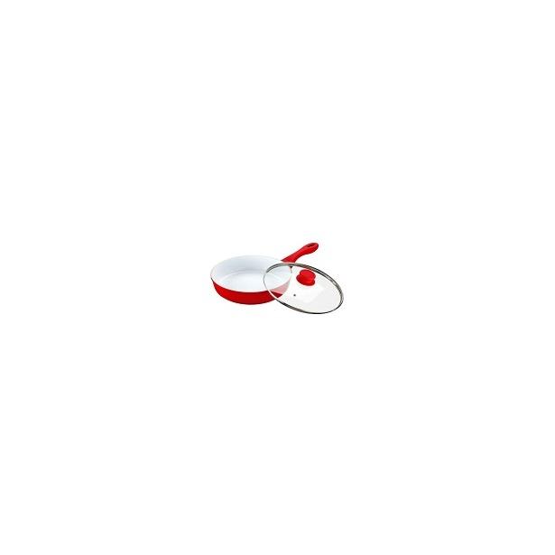 фото Сковорода с крышкой Alpenkok АК-0005/26К. Цвет: красный