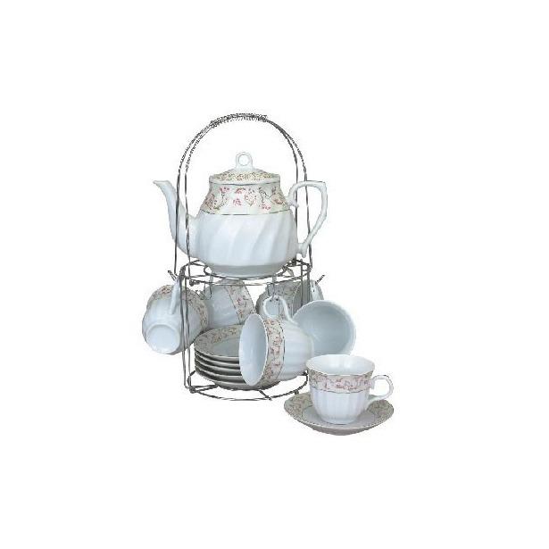 фото Чайный набор на подставке Grazie «Амалия» с чайником