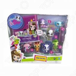 Набор игровой для девочек из 7 зверюшек Littlest Pet Shop