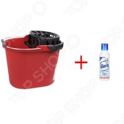 фото Ведро хозяйственное с насадкой для отжима швабры Vileda «Вишмоп» и средство для мытья пола, Ведра. Тазы