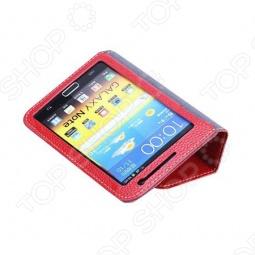 фото Чехол кожаный для Samsung Galaxy Note i9220 Yoobao Executive. Цвет: красный, Защитные чехлы для планшетов Galaxy