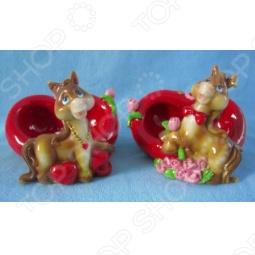 фото Подставка под телефон Снегурочка «Лошадь С Сердцем И Цветами», купить, цена