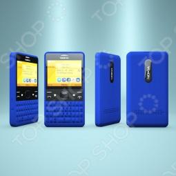 фото Мобильный телефон Nokia Asha 210 Dual Sim Cyan Blue, Мобильные телефоны с 2-я sim-картами