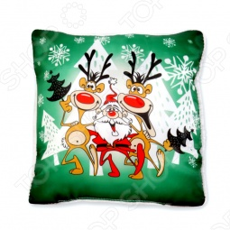 фото Подушка декоративная «Танцующий Санта», Декоративные подушки