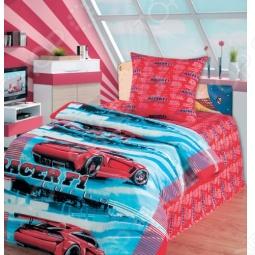 фото Комплект постельного белья Непоседа Автогонки 3D, Детские комплекты постельного белья