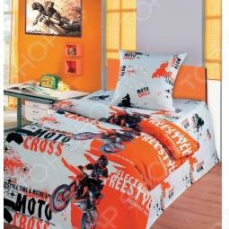 фото Комплект постельного белья Непоседа Мотокросс, Детские комплекты постельного белья