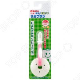 фото Щетка зубная для младенцев с фиксатором Pigeon. Цвет: розовый, Уход за зубами