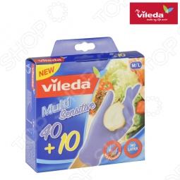 фото Перчатки хозяйственные одноразовые Vileda. Размер: M/L, Перчатки хозяйственные