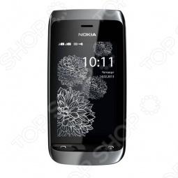 фото Мобильный телефон Nokia 308 Asha Black Charme, Мобильные телефоны с 2-я sim-картами