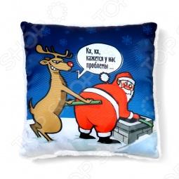 фото Подушка декоративная «Санта и олень», Декоративные подушки
