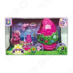 фото Пони с волшебной каретой и аксессуарами 1 Toy Т56608, Игровые наборы для девочек