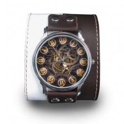 """Часы """"Механика"""", дизайнерский ремешок"""