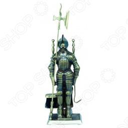фото Набор для камина латунный на подставке Vortex «Рыцарь», Аксессуары для печей и каминов