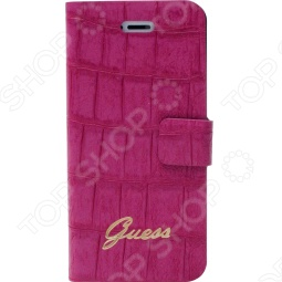 фото Чехол Guess Slim Folio Case Croco Для Iphone 5, Защитные чехлы для iPhone