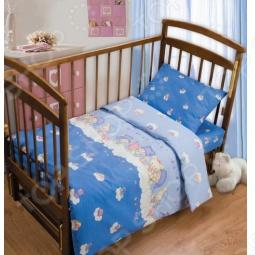 фото Комплект постельного белья Непоседа Мишки На Облаках, Детские комплекты постельного белья