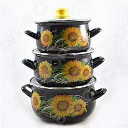 фото Набор кастрюль Interos Солнышко, Наборы посуды для готовки