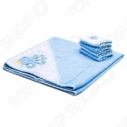 фото Полотенце с капюшоном и 4 салфетки Spasilk «Осьминог», Полотенца. Салфетки для купания