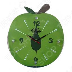 """фото Часы настенные Тип Топ """"Яблоко"""". Цвет: красный, Часы настенные"""