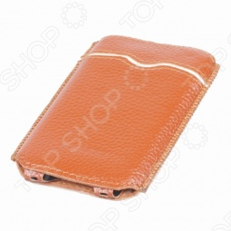 фото Чехол кожаный для iPhone 4/4s Yoobao Beauty. Цвет: коричневый, Защитные чехлы для iPhone