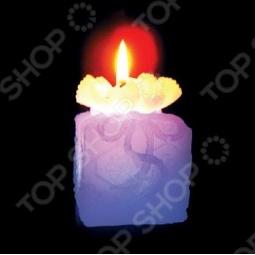 фото Свеча новогодняя с led Снегурочка «Подарок», Свечи. Подсвечники