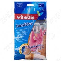 фото Перчатки для деликатных работ Vileda. Размер: M, Перчатки хозяйственные