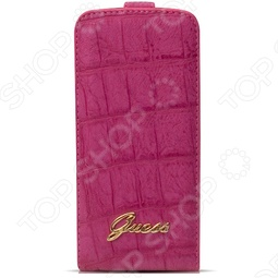 фото Чехол Guess Flip Case Croco Для Iphone 5, Защитные чехлы для iPhone