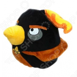 фото Подушка-игрушка декоративная Angry Birds Space Black Firebomb Bird, Подушки детские
