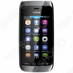 фото Мобильный телефон Nokia 308 Asha Black, Мобильные телефоны с 2-я sim-картами