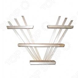 фото Полка настенная Банные Штучки Трехъярусная, Деревянные вешалки, полки, дверные ручки