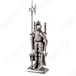фото Набор для камина никелированный на подставке Vortex «Рыцарь», Аксессуары для печей и каминов