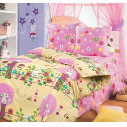 фото Комплект постельного белья «Кошка и пчелка». Детский, Детские комплекты постельного белья