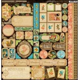 фото Набор стикеров Graphic45 Olde T.t. Travelogue, купить, цена