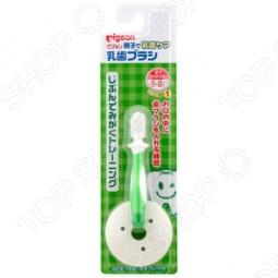 фото Щетка зубная для младенцев с фиксатором Pigeon. Цвет: зеленый, Уход за зубами