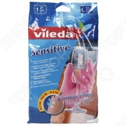 фото Перчатки для деликатных работ Vileda. Размер: L, Перчатки хозяйственные
