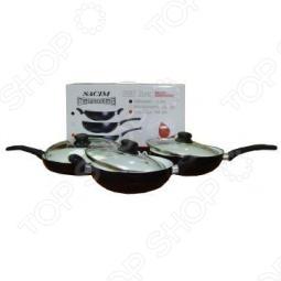фото Набор сковород с керамическим покрытием. Черный, Наборы посуды для готовки