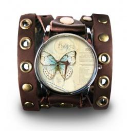 """Часы """"Бабочка"""", дизайнерский ремешок"""