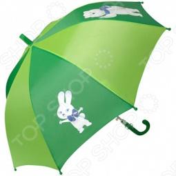 Зонт-трость полуавтомат детский Талисманы. Цвет: зеленый