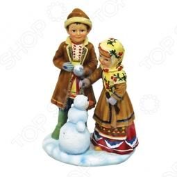 фото Фигурка Снегурочка «Дети Со Снеговиком», Другие элементы интерьера