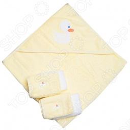 фото Полотенце с капюшоном и 4 салфетки Spasilk «Уточка», Полотенца. Салфетки для купания
