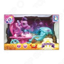 фото Пони-русалочка с морской повозкой и дельфином 1 Toy Т56609, Игровые наборы для девочек