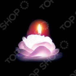 фото Свеча новогодняя с led Снегурочка «Роза», Свечи. Подсвечники