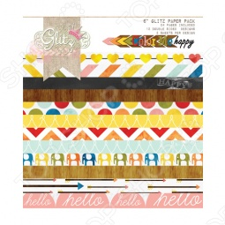 фото Набор бумаги Glitz Design Color Me Happy, купить, цена