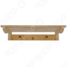 фото Полка с вешалкой Банные Штучки 3 Рожка, Деревянные вешалки, полки, дверные ручки