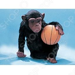 фото Сувенир из меха «Обезьянка с баскетбольным мячиком», Чучела животных. Сувениры из меха