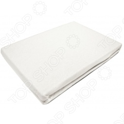 фото Простыня на резинке трикотажная ЭГО. Цвет: белый. Размер простыни: 180х200 см, Простыни